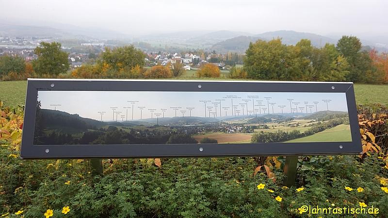 Übersicht mit Sackpfeife und Eichelberg