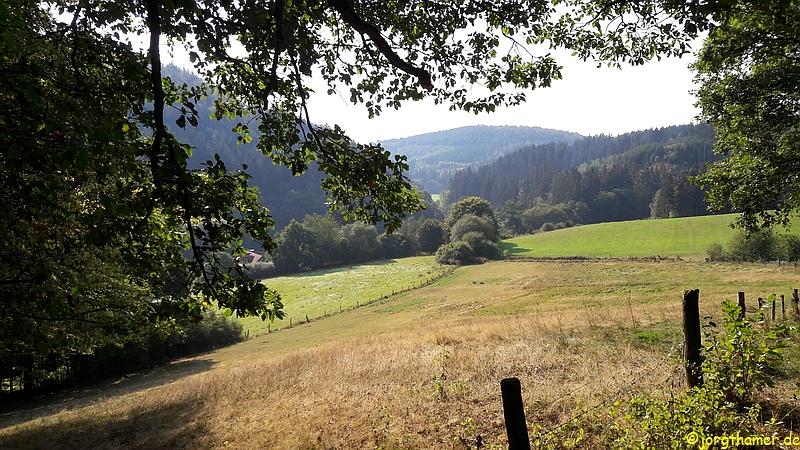 Wandern auf dem Hugenotten- und Waldenserpfad (hier: Lengeltal)